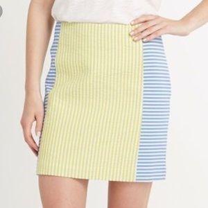 Vineyard Vines Yellow & Blue Seersucker Skirt